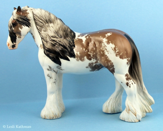 JUNIPER Irish Cob sculpture. Custom glazed by Lesli Kathman