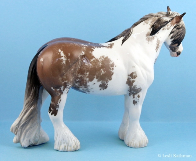 JUNIPER Gypsy Cob sculpture. Custom glazed by Lesli Kathman