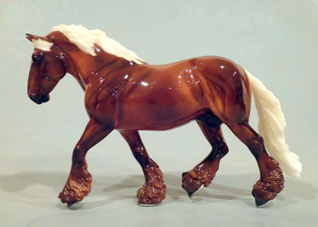 One of a a Kind color painted by Karen at Breyer's company offices